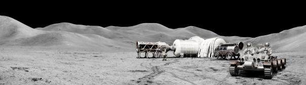 Concepto de estación lunar con módulos Beam